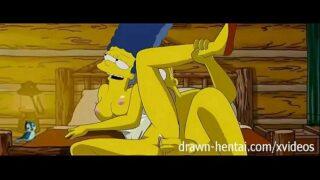 los simpson porno en la cabañita del amor